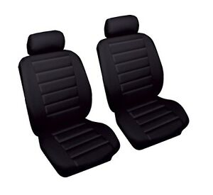 Leather Look Car Seat Covers Black FORD RANGER 99 05 Front