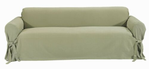 Cotton twill loveseat cover one piece