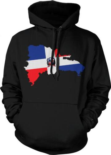 Dominican Republic Flag Imprint Country Outline Bandera Orgullo Hoodie Pullover