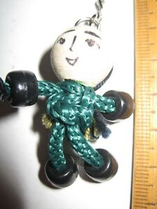Handmade-Keyring-Green-Knotted-cord-body