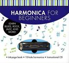 Harmonica for Beginners: Learn Blues, Rock, Jazz, and More! [With CD (Audio) and Harmonica] von Sales Corporation Music (2012, Taschenbuch)