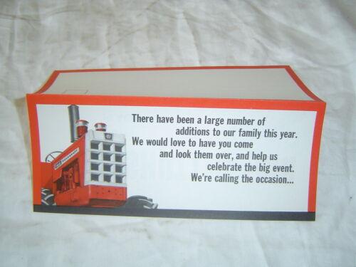 Cockshutt dealer fair invitation card brochure 1950 tractor