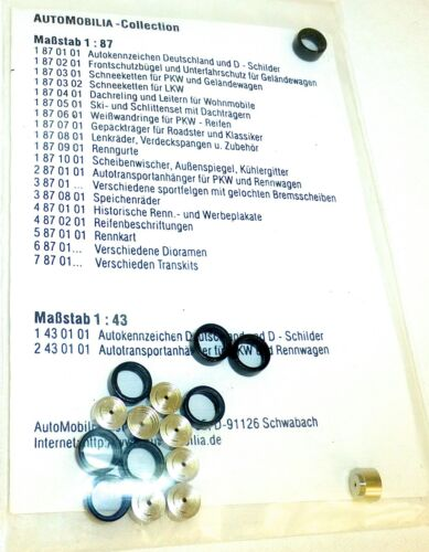 8 x Sport llantas con discos de freno kit automobilia 3871101 h0 1:87 OVP Å *