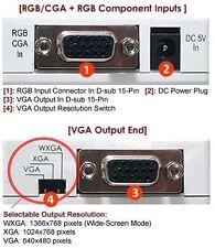 Analog RGB RGsB RGBS to VGA XGA Converter Scaler