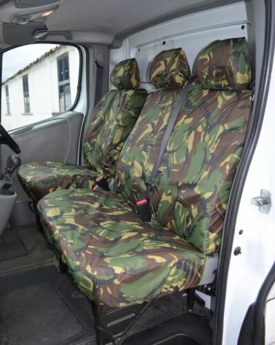 VAUXHALL VIVARO 2014 + CAMOUFLAGE VAN SEAT COVERS SINGLE /& DOUBLE 2+1
