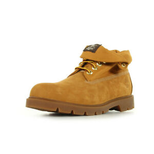 Bottines-Timberland-homme-Basic-Roll-Top-taille-Camel-Cuir-Lacets