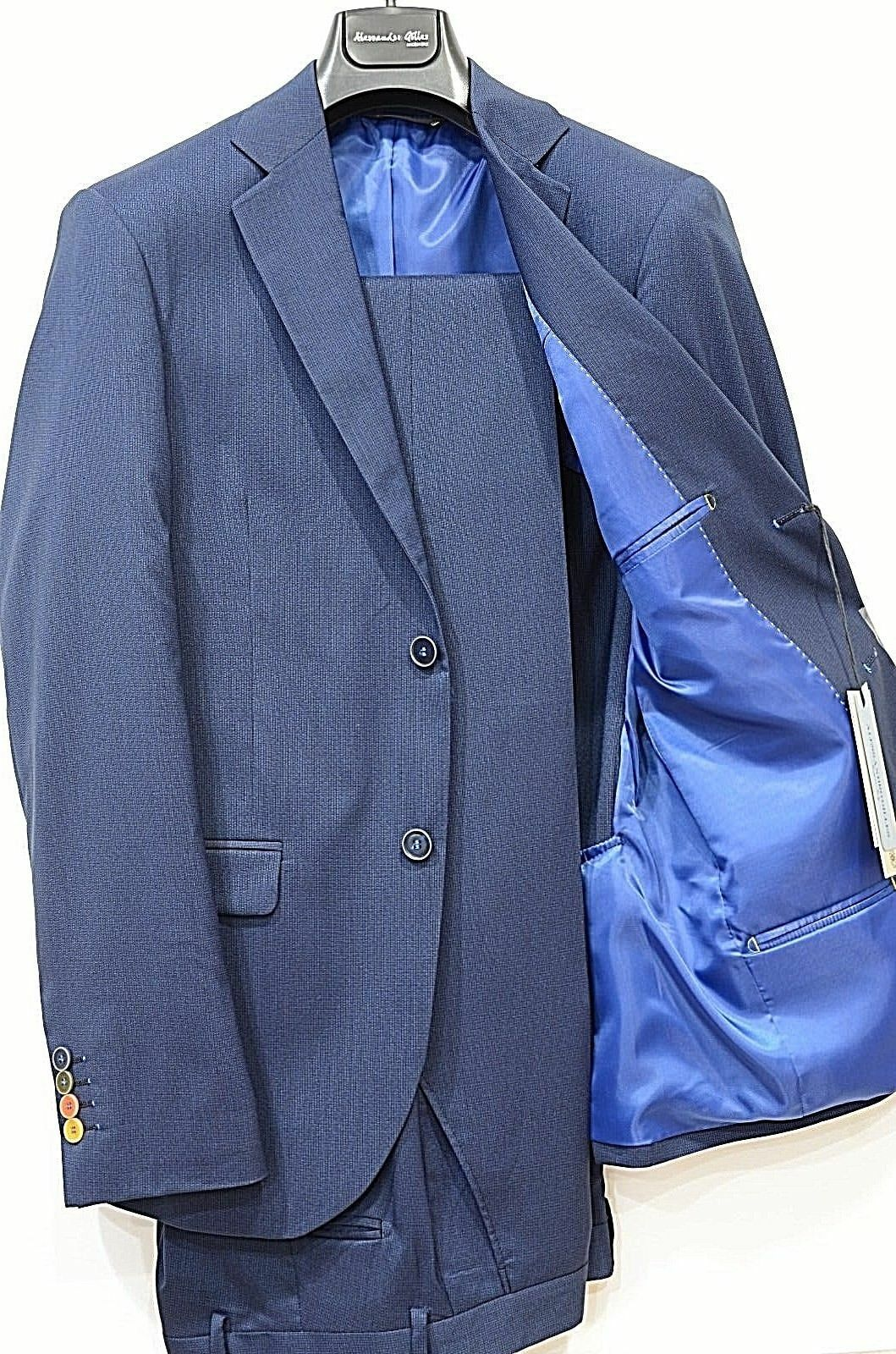 ALESSANDRO GILLES ABITO men SLIM FIT MADE IN ITALY ART. A22C 0150 blue MICROFANT
