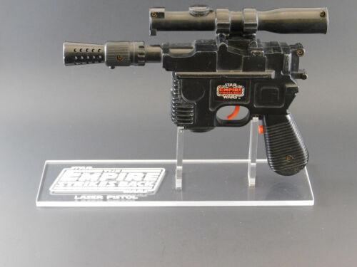 Empire Vintage Han Solo Laser Pistol//Blaster 1 x Acrylic STAND Left Facing
