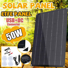 50w Solar Panel 12v Trickle Charge Battery Charger For Maintainer Marine Rv Car