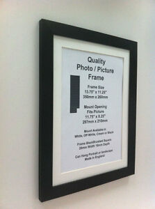 Black Photo Picture Frame 28mm Mount 9x9 9x10 9x11 9x12 9x13 9x14