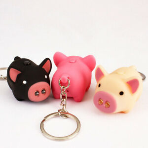 Cute-Pig-LED-Light-Sound-Keychain-Key-Chain-Keyring-Car-Bag-Pendant-Decor-Dote