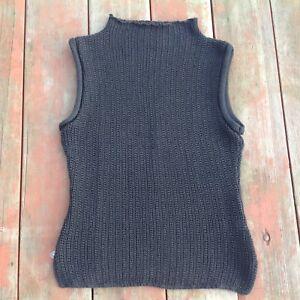 e22a7e8c2 Details about Cotton Emporium Womens Sweater Vest Knit Black Size M