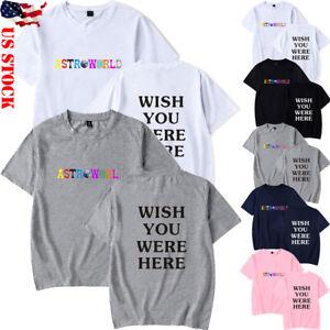 New-Men-amp-Women-Travis-scott-astroworld-T-shirt-short-sleeve-Summer-Casual-Tops