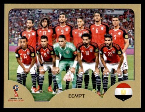 Team Photo 73 Panini World Cup 2018 Egypt SWISS GOLD VERSION No