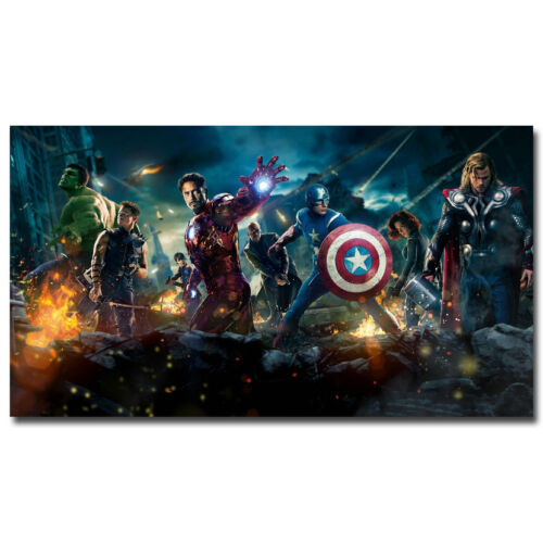"The Avengers 2 Superheroes Movie Silk Poster Print 13x24 24x43/"" Hulk Iron Man"