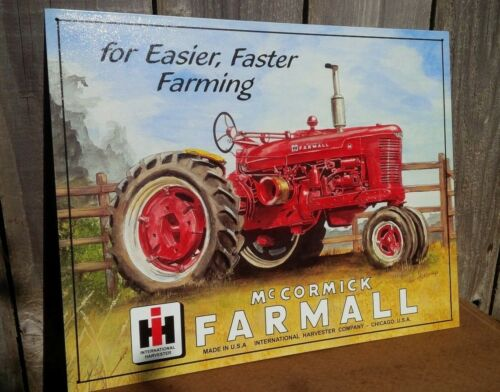 FARMALL International Harvester Tin Metal Sign Classic Wall Garage Barn Decor