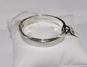 db2b030ee3902 Image is loading Montblanc-Jewelry-925-Sterling-Silver-Bangle-Bracelet