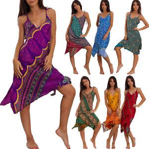 Caricamento dell immagine in corso Vestito-donna-abito-indiano-boho-chic -double-face- f9de3fc9cff