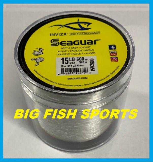 SEAGUAR INVIZX 100% Fluorocarbon Line 15lb/600yd 15VZ600 FREE USA SHIP! 15VZ600