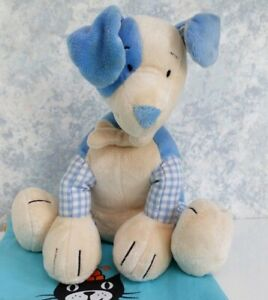 Jelly-Kitten-Jellycat-Musical-Puppy-Dog-Soft-Plush-Blue-Gingham-Comforter-Toy