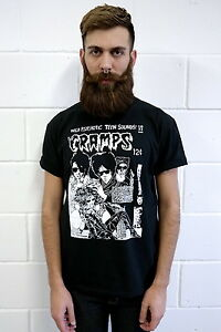 THE-CRAMPS-PSYCHO-ART-T-SHIRT-VTG-PSYCHOBILLY-PUNK-SKULL-AWESOME-GOTH