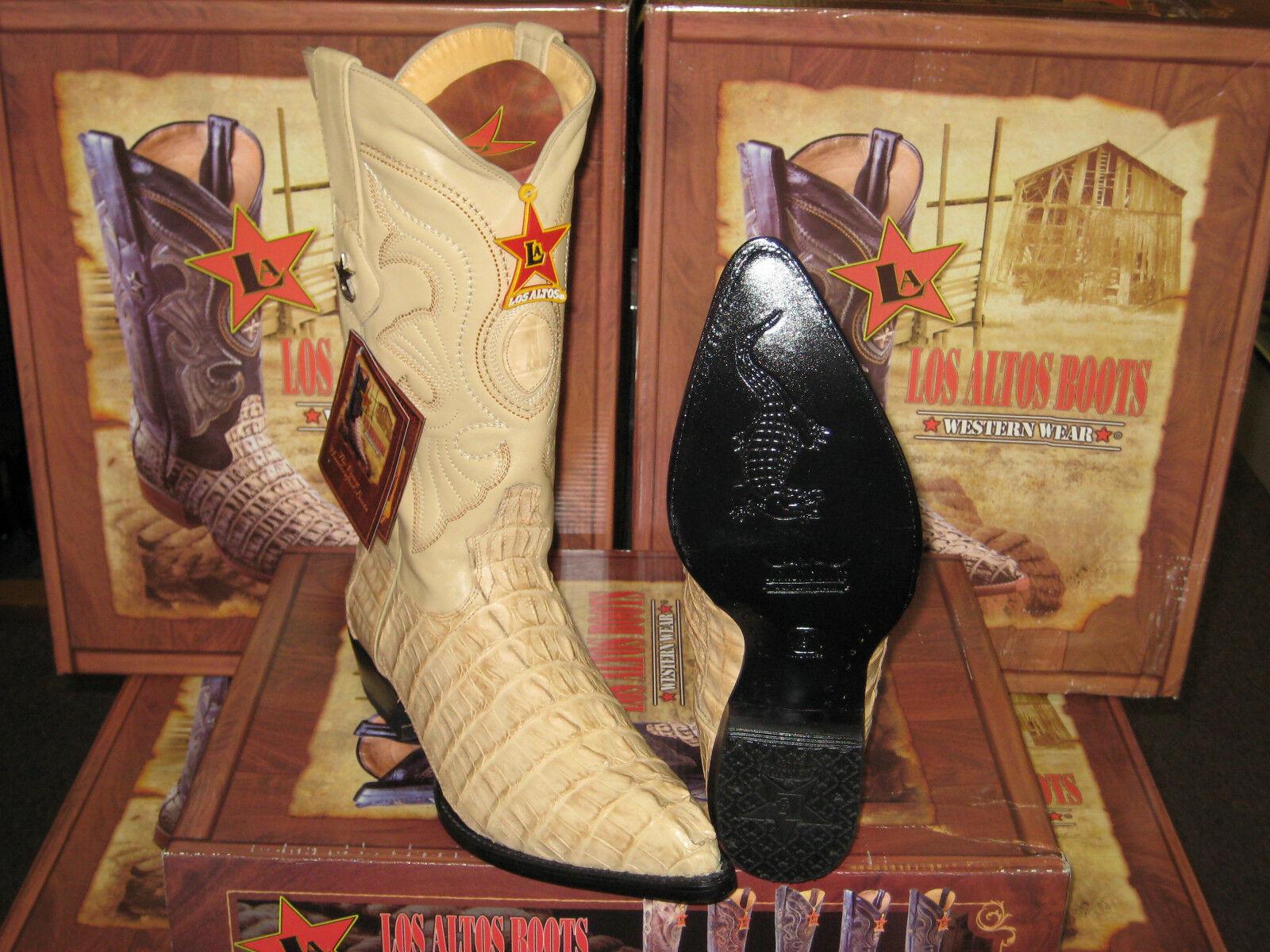 LOS ALTOS WOMEN ORYX GENUINE CROCODILE TAIL WESTERN COWBOY BOOT (M) L091111