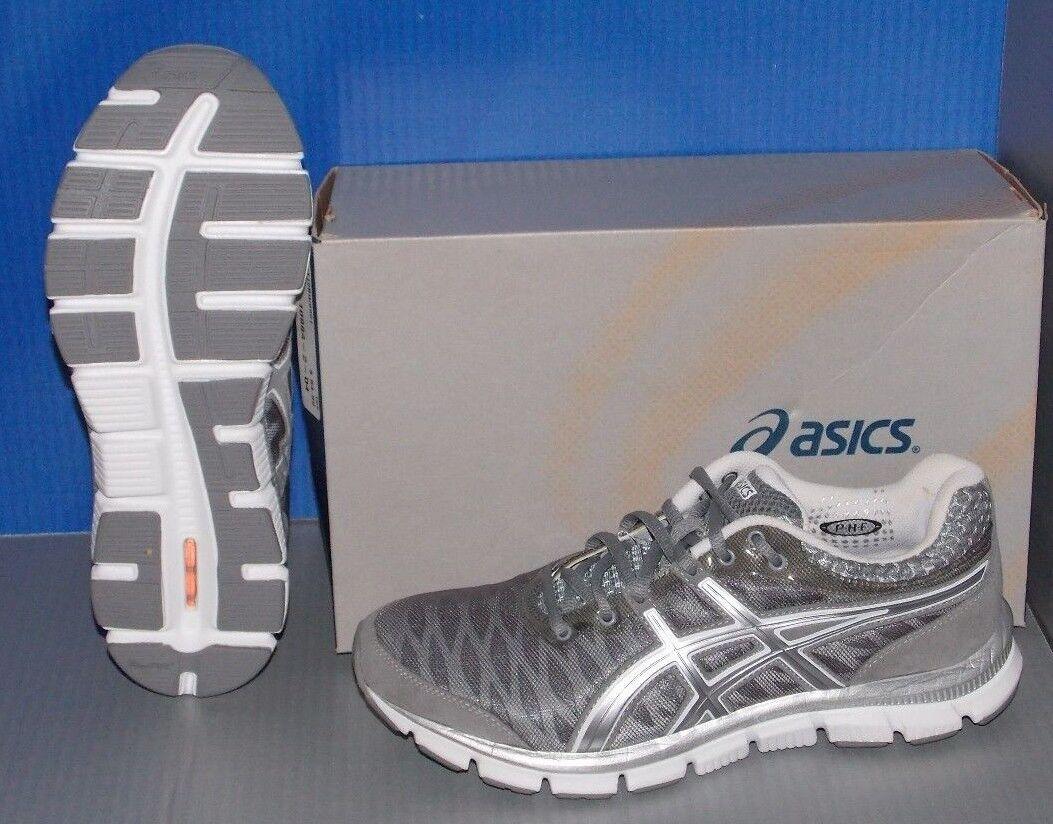 Uomo asics gel - nerve33 grau / 8 weiß / lightning größe 8 / 055e8e