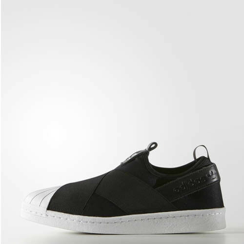 Adidas S81337 Men Superstar Slip on casual shoes black white sneakers