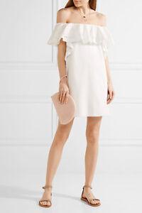 Allison Off-the-shoulder Stretch-cotton Poplin Mini Dress - White Rachel Zoe 7h2vf