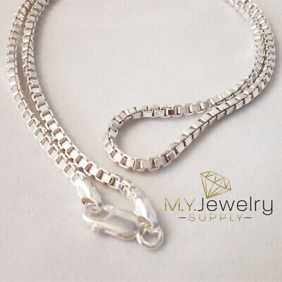 18 Inch .925 Sterling Silver 1.1mm Box Chain Necklace