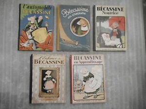 5 Anciens Albums Bécassine Gautier-languereau 1947 1948 1949