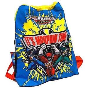 l'ultimo a0d29 58ce6 Dettagli su EASY BACKPACK Power Rangers SACCA ZAINO borsa da ginnastica CON  SPALLACCI porta