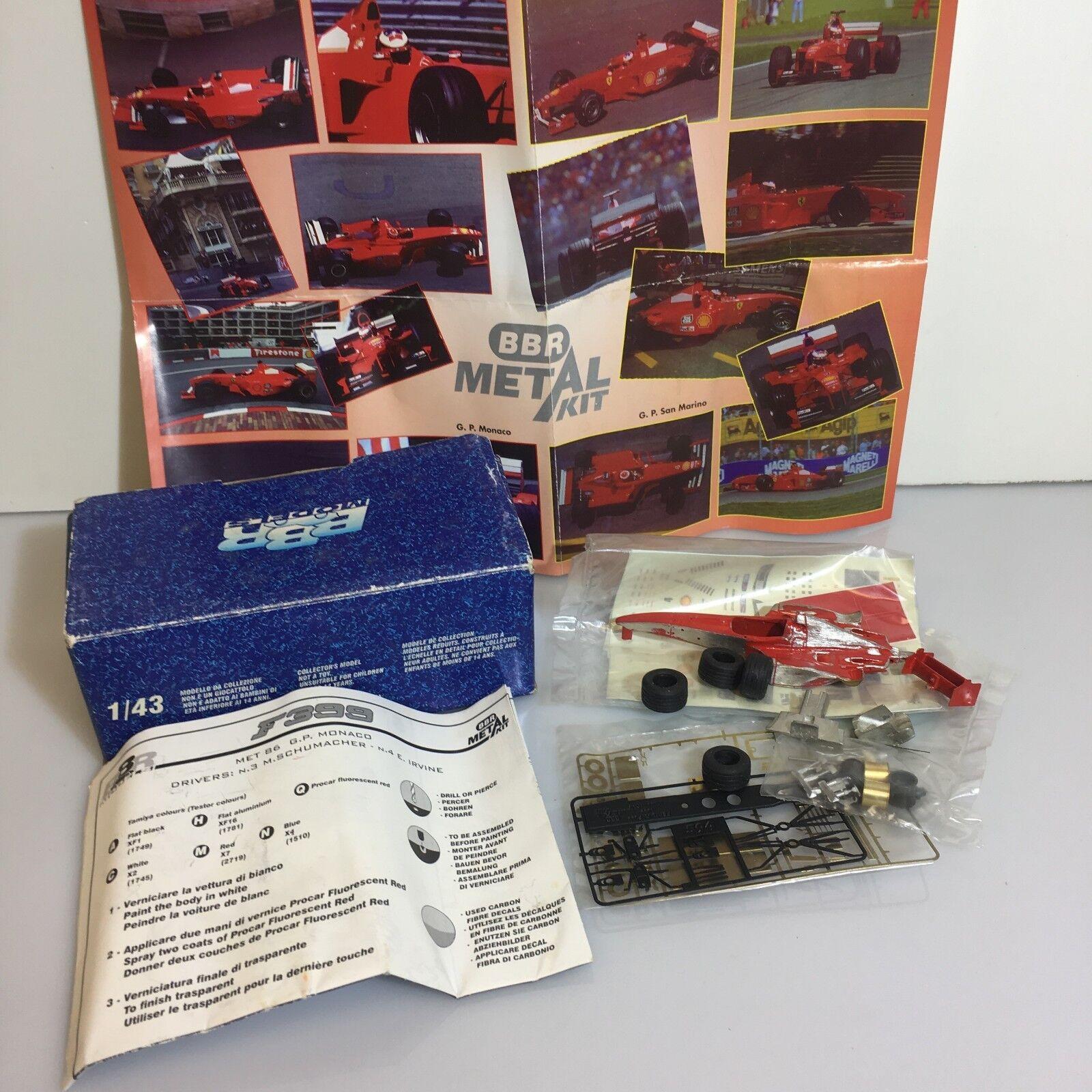BBR Models Ferrari F399 GP GP GP Montecarlo 2018 Met86 Winner Box Modellino 1:43 1/43 6c0dae