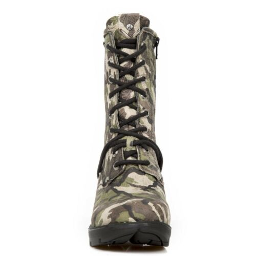 Army donna Shoes Camouflage da Stivaletti Newrock Flower s45 Rock Tr001 New pXWp8wqBv