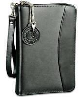Black Leather Disguised Concealment Gun Case W/ Mag Holder - Ruger Lc9 W/ Laser