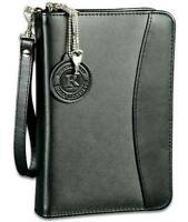 Black Leather Disguised Concealment Gun Case W/ Mag Holder For S&w M&p Shield