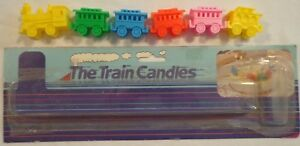 Image Is Loading CAKE TOPPER DECORATION TRAIN 6 BIRTHDAY CANDLE HOLDERS