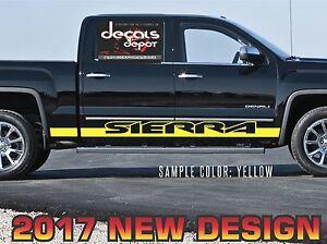 Fits-GMC-SIERRA-1500-2500HD-3500HD-SLT-Denali-2005-to-2019-Rocker-Panel-Stripes