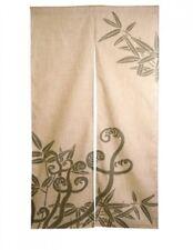 New NOREN WARABI SASA Bamboo Japanese Door Curtain Hemp Linen 84cm x 145cm
