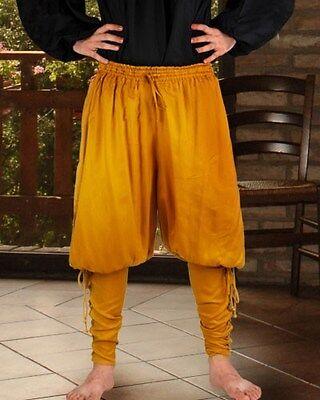 Renessaince Pants Pirate Medieval Rayon S/M-XXXL 8 Colors Elastic Waist NEW