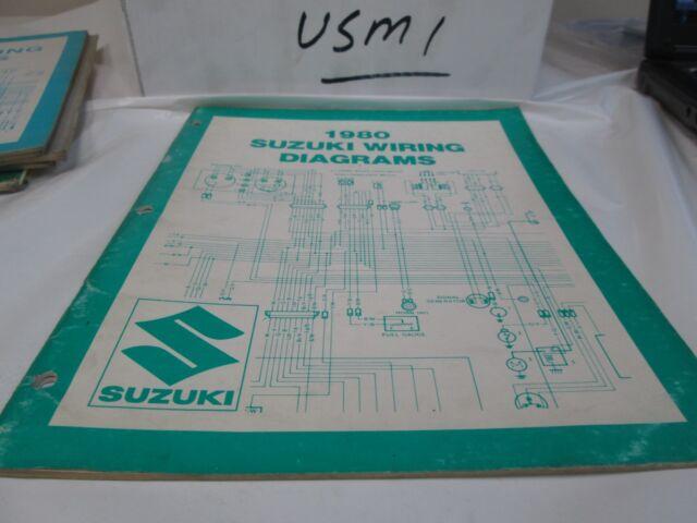 Suzuki 1980 WIRING DIAGRAMS   eBay