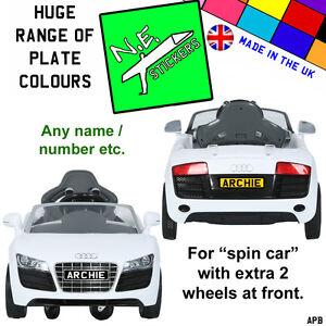Personalised Kids Number Licence Plate Fits V Audi Spyder SPIN - Audi 6v car