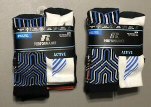 Russell Athletic Performance Active Boys Crew Socks 3 Pack M//M 9-2 1//2 NEW!!!