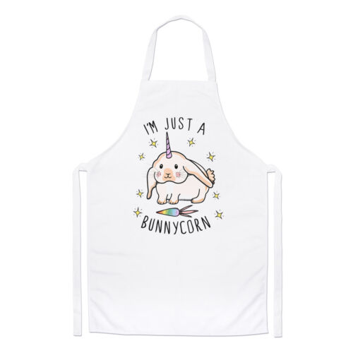 Bunny Unicorn Rabbit Funny Cooking I/'m Just A Bunnycorn Chefs Apron