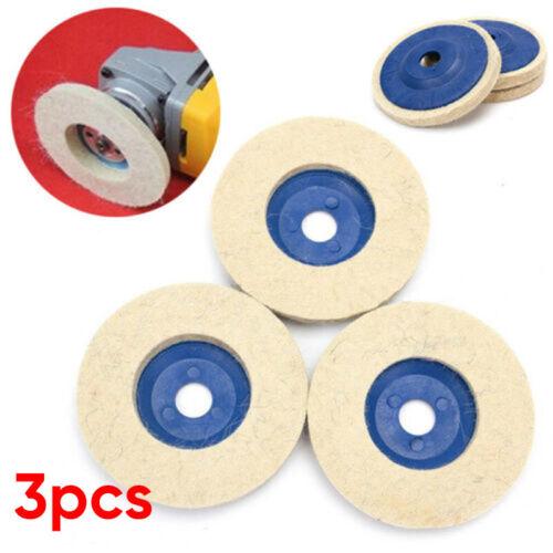 4/'/' Buffing Polishing Wheel Buffer Polish Grinder Pad Felt For 100 Angle Grinder