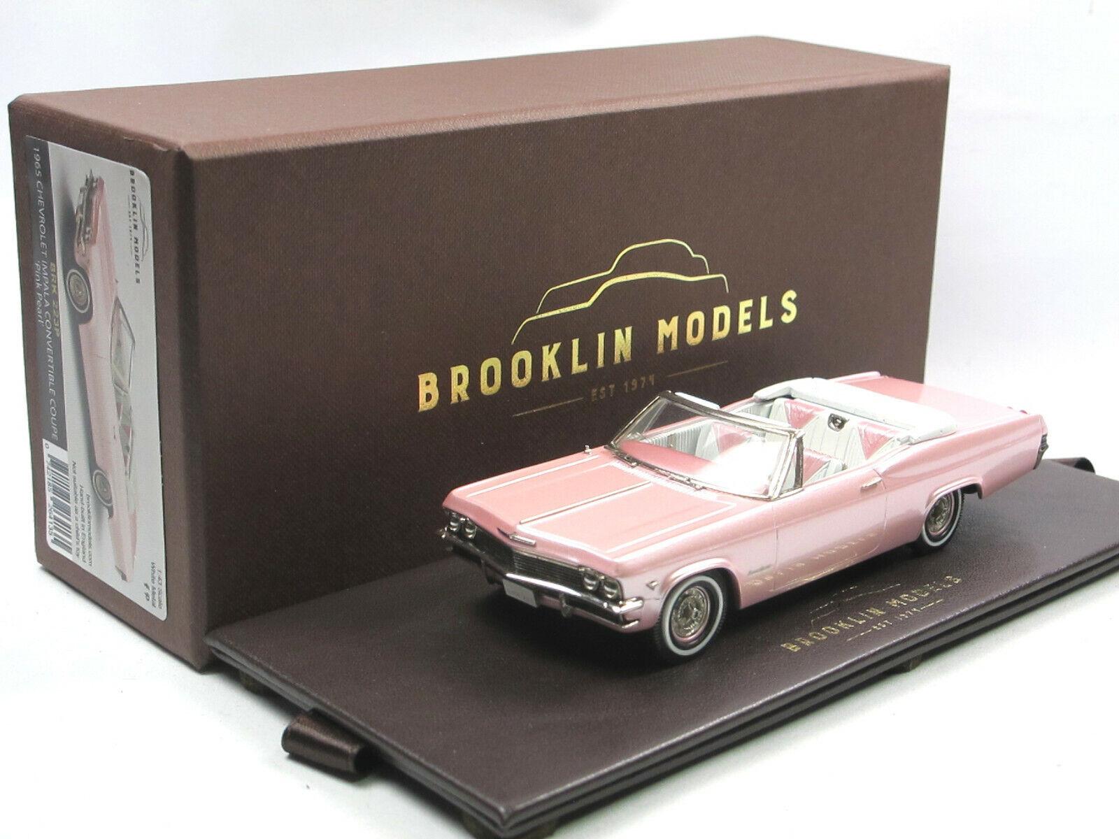BROOKLIN BRK 223p 1965 Chevrolet Impala Convertible Coupe rose COLLECTION  1 43  remise élevée