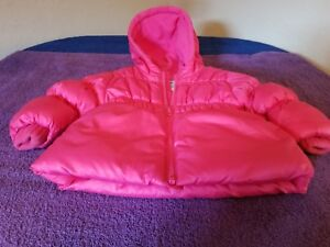 Old-Navy-baby-girl-039-s-pink-puffy-winter-coat-hood-sz-12-18-Months