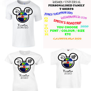 8202f040 Image is loading Personalised-Holiday-Shirt-Ladies-Mens-Kids-Disney-T-