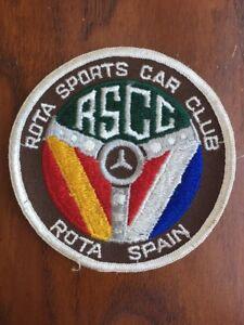 Vintage-Rota-Sports-Car-Club-4-034-Embroidered-Patch-Rota-Spain-RSCC