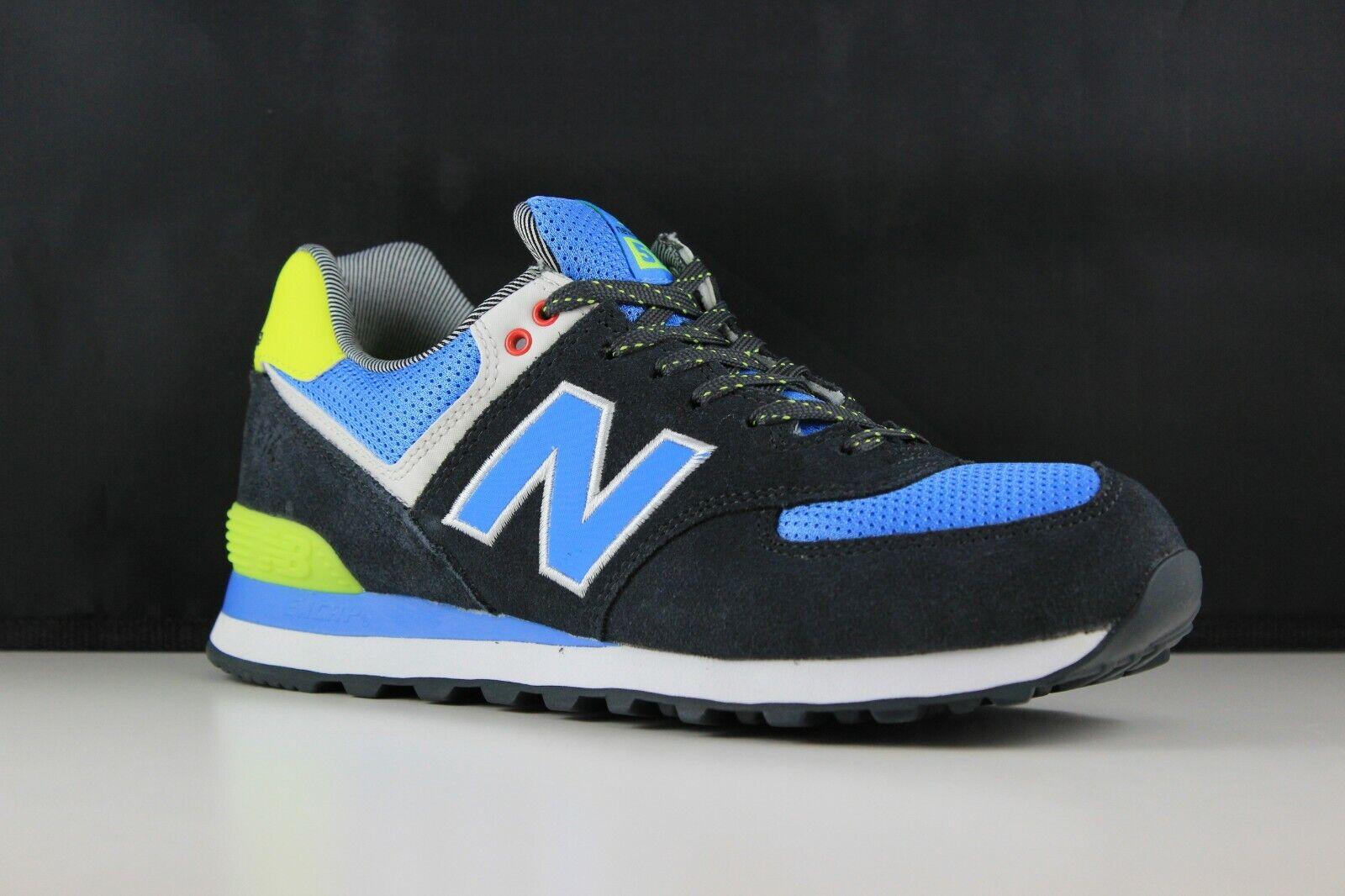 New Balance ML574YCN Size 9 Navy Light bluee Neon